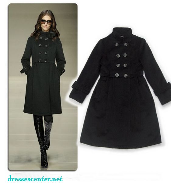 coat womens black